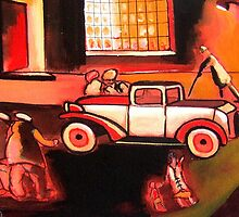 The car ( from my original acrylic painting) by sword