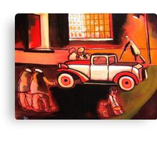 The car ( from my original acrylic painting) Canvas Print