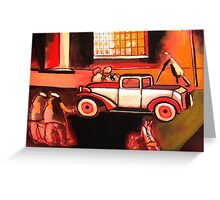 The car ( from my original acrylic painting) Greeting Card