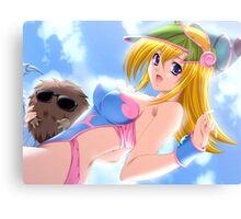 Yu-Gi-Oh! Dark Magician girl, poolparty Canvas Print