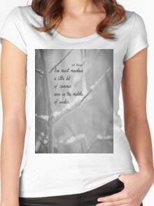Thoreau Winter Women's Fitted Scoop T-Shirt