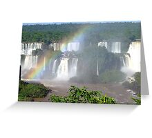 Iguassu Falls, Brazil, South America Greeting Card