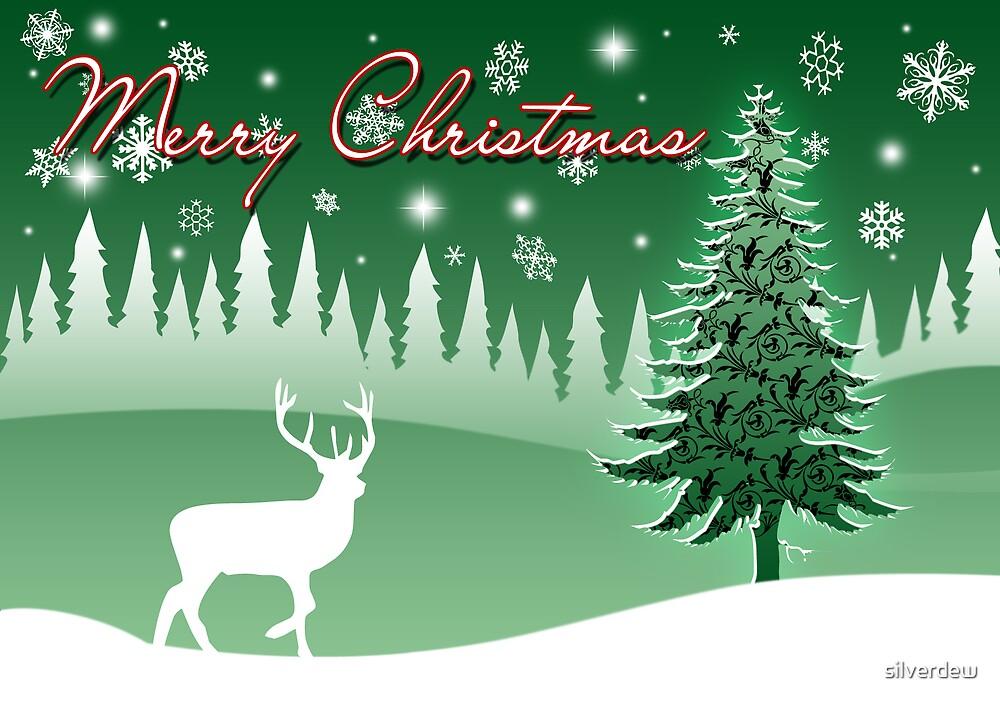 Christmas Deer Card by silverdew