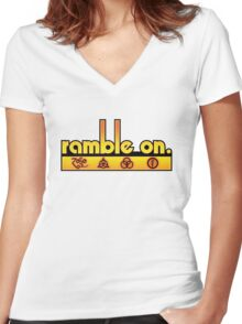 Ramble On Women's Fitted V-Neck T-Shirt