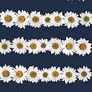 Daisy Chains on Navy by Tangerine-Tane
