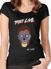 They Live Women's Fitted Scoop T-Shirt