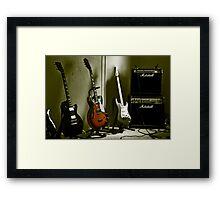 lone Guitar Framed Print