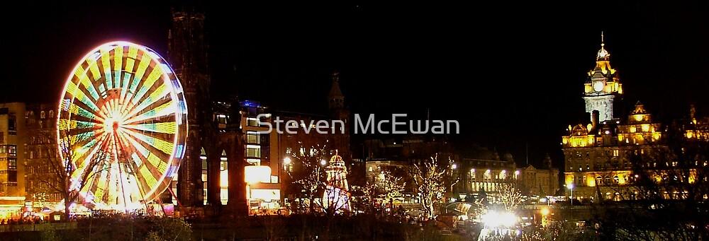 Princes Street at Christmas by Steven McEwan