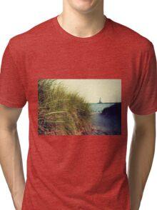 Lake Michigan dune grass Tri-blend T-Shirt