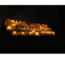 Candles in the Chapel at Mission San Luis Rey Photographic Print
