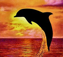 Dolphin in Silhouette by Giovanni Carson