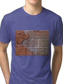 Textured red bricks wall Tri-blend T-Shirt