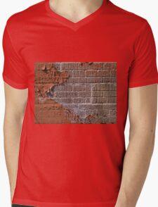 Textured red bricks wall Mens V-Neck T-Shirt