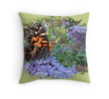 American Painted Lady 66 Throw Pillow