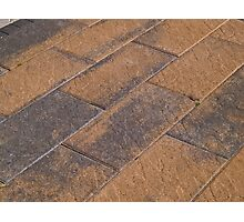 Details of stone garden tiles Photographic Print