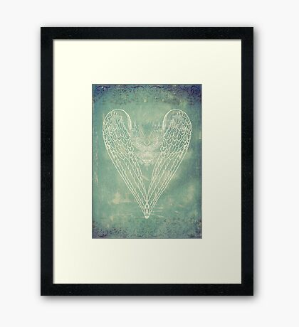 Vintage Battered Heart Framed Print
