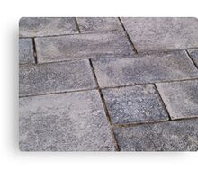 Details of gray stone garden tiles Canvas Print