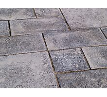 Details of gray stone garden tiles Photographic Print