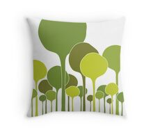 Green Palette Throw Pillow