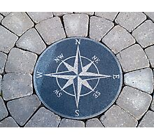 Compass directions wind rose Photographic Print