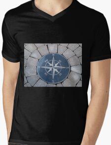 Compass directions wind rose Mens V-Neck T-Shirt