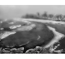 Snowstorm in B&W Photographic Print
