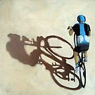 Single Focus Tour de France bicycle oil painting by LindaAppleArt