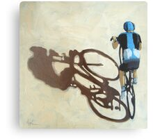 Single Focus Tour de France bicycle oil painting Metal Print