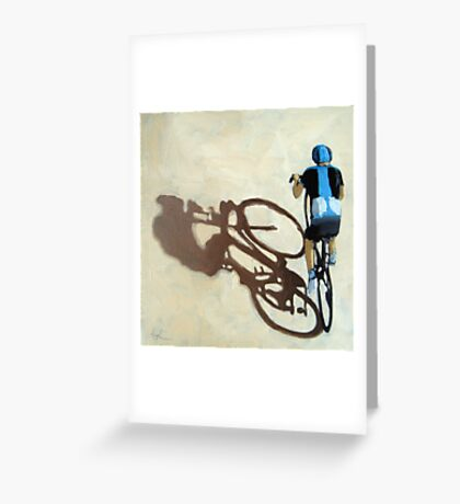 Single Focus Tour de France bicycle oil painting Greeting Card