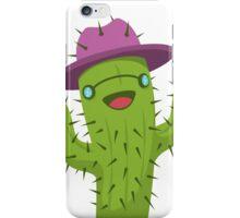 Hippie Cactus Print / Funny Cactus Artwork iPhone Case/Skin