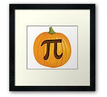 Halloween Pumpkin Pie Pi Framed Print