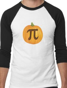 Halloween Pumpkin Pie Pi Men's Baseball ¾ T-Shirt