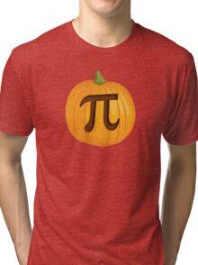 Halloween Pumpkin Pie Pi Tri-blend T-Shirt