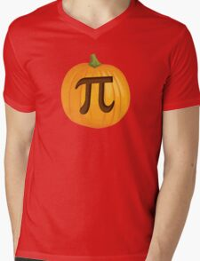 Halloween Pumpkin Pie Pi Mens V-Neck T-Shirt