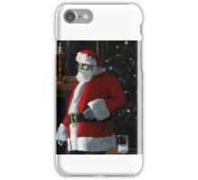 Santa Night - Xmas figurative oil painting iPhone Case/Skin
