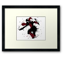Shaco Ink Black Framed Print