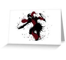 Shaco Ink Black Greeting Card