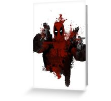 Deadpool - Trash Greeting Card