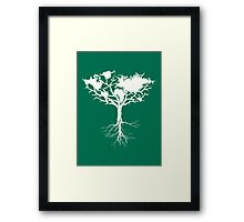 Earth tree *pearl white Framed Print