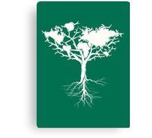 Earth tree *pearl white Canvas Print