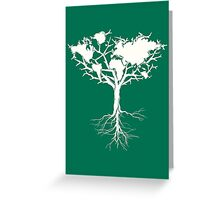 Earth tree *pearl white Greeting Card