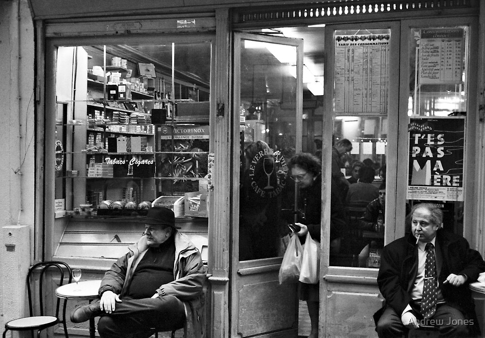 Bar Tabac, Rue Mouffetard, Paris, December 2004 by Andrew Jones