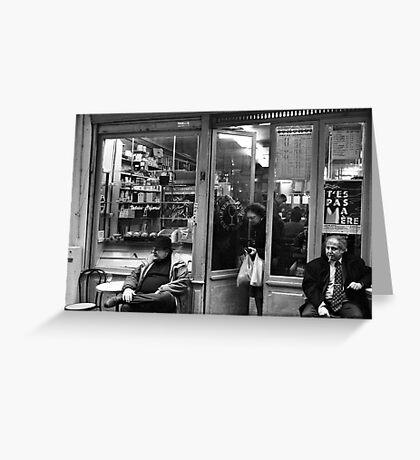 Bar Tabac, Rue Mouffetard, Paris, December 2004 Greeting Card