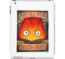 Howl's Moving Castle Illustration - CALCIFER (original)  iPad Case/Skin