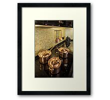 kitchen copper utensils Framed Print