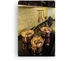 kitchen copper utensils Canvas Print