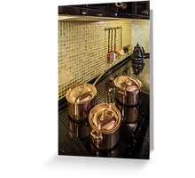 kitchen copper utensils Greeting Card