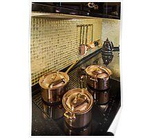 kitchen copper utensils Poster