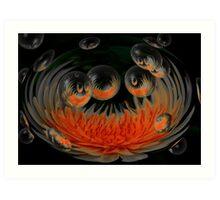 Sunburst Bubbles Art Print