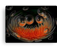 Sunburst Bubbles Canvas Print